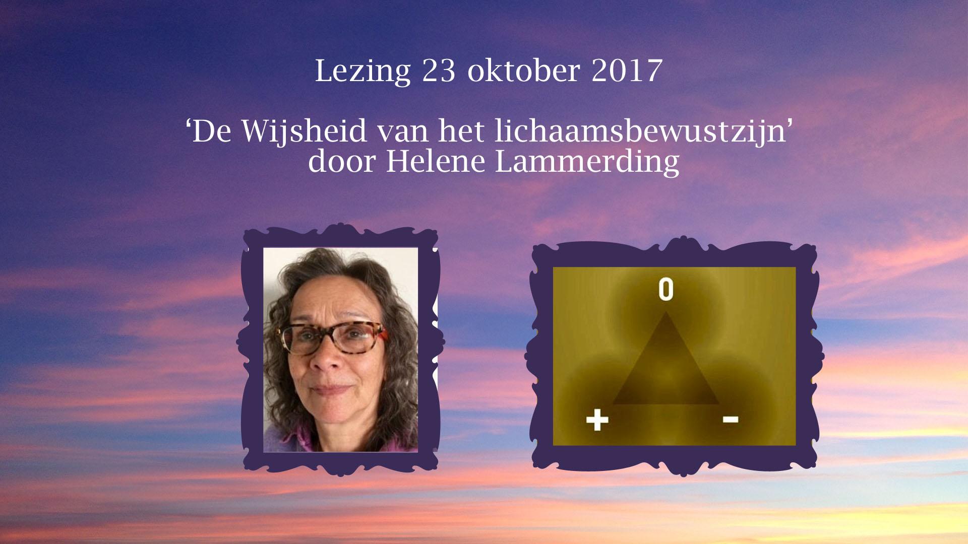 Helene Lammerding De wijsheid van het Lichaamsbewustzijn 231017, Loge Den Haag TVN