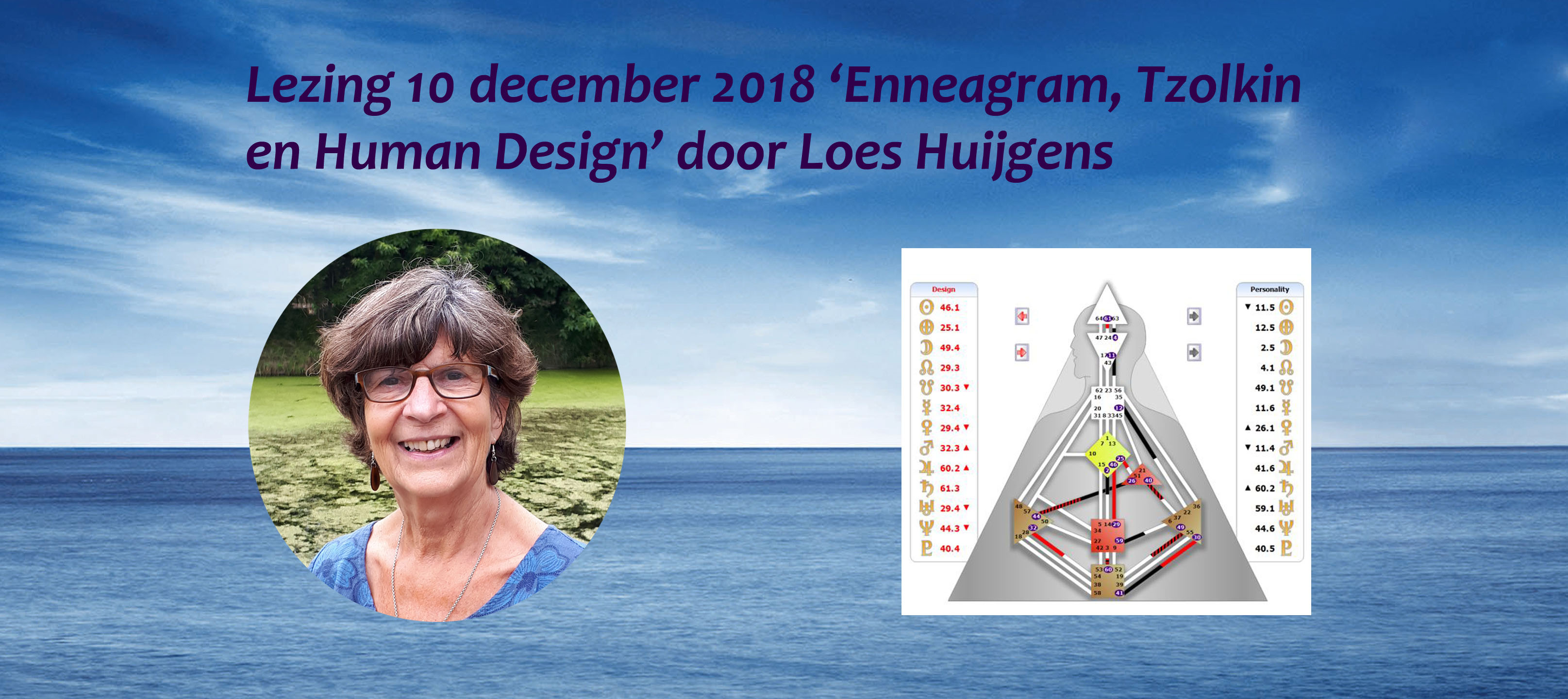 Lezing door Loes Huijgens over Enneagram, Tzolkin en Human Design