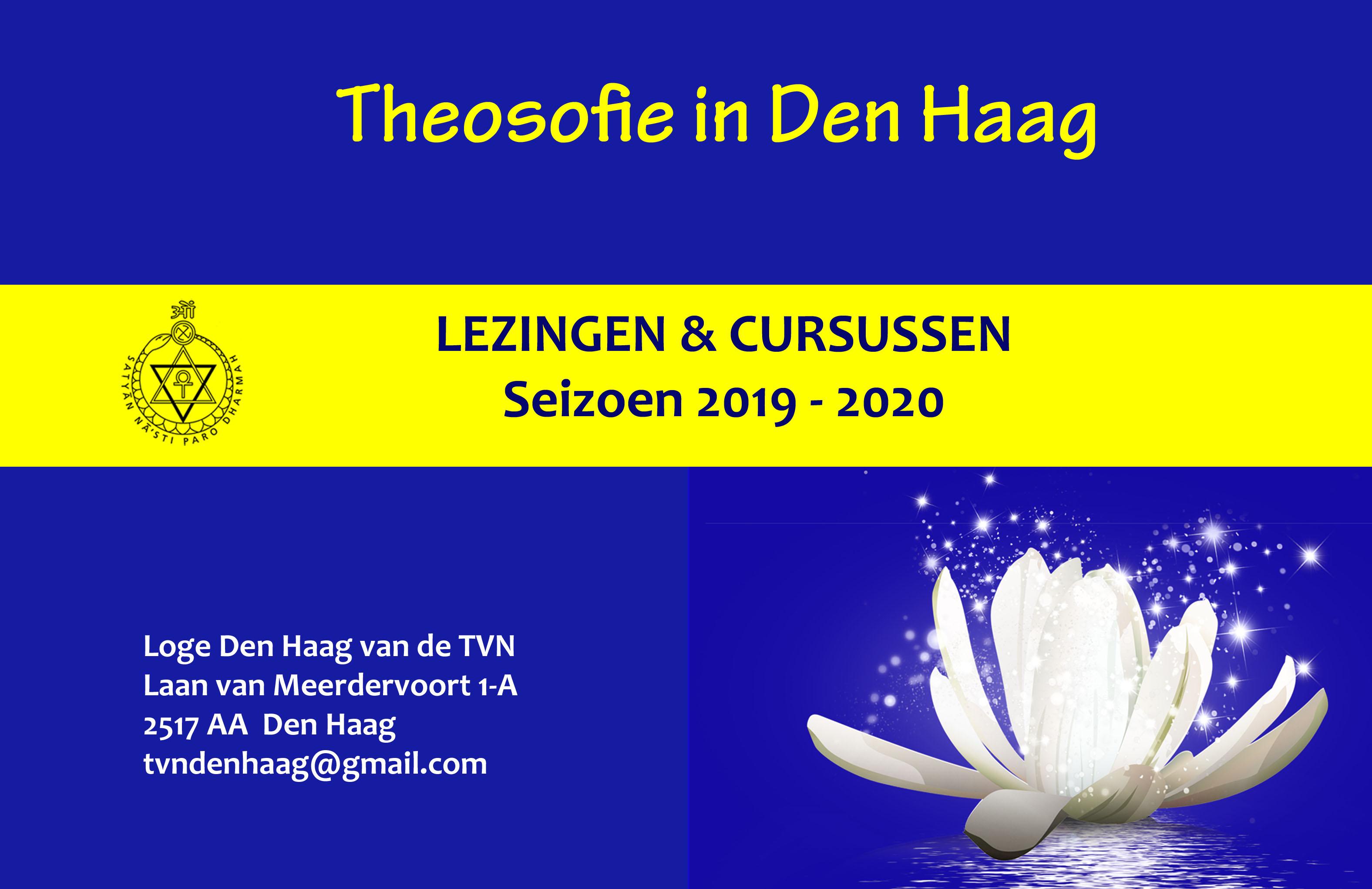 Programmafolder Loge Den Haag 2019 2020 is klaar